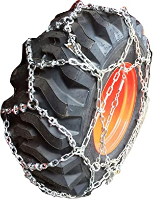 TireChain.com 12-16.5 Reinforced European Style Net Tire Chains, Priced per Pair (Set of 2)