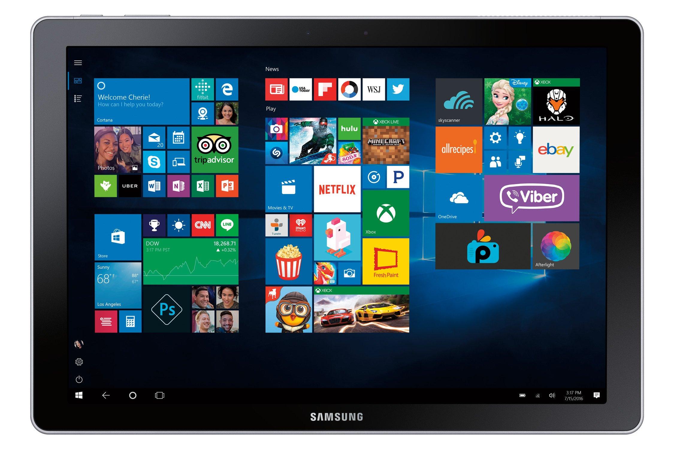 """Samsung Galaxy Book 12"""" Windows 2-in-1 PC (Wi-Fi) Silver, 8GB RAM/256GB SSD, SM-W720NZKAXAR by Samsung (Image #6)"""