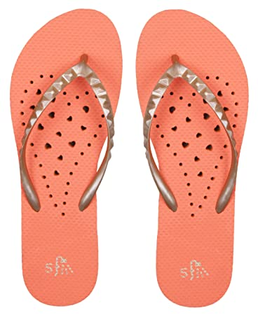 Girls' Antimicrobial Shower & Water Sandals for Pool Beach Camp and Gym - Elongated Heart Collection