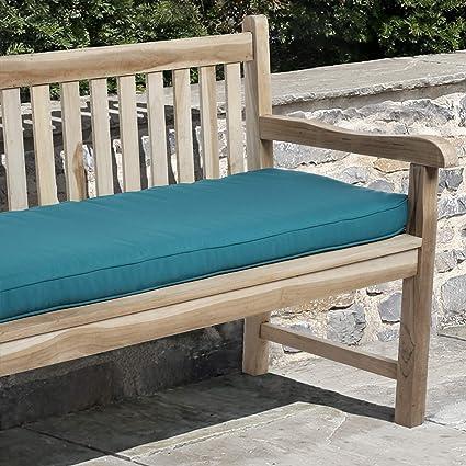 Amazon Com Mozaic Amzcs113323 Sunbrella Indoor Outdoor Corded Bench Cushion 56 X 19 5 Canvas Teal Garden Outdoor
