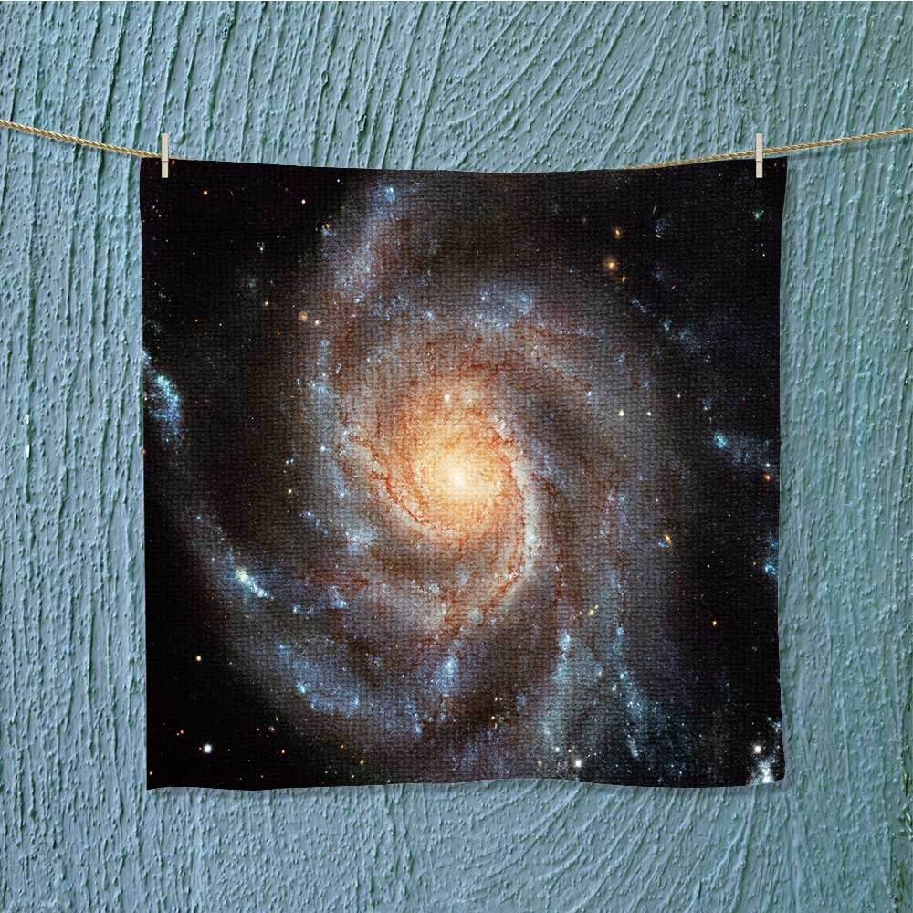 AuraiseHome microfiber towelgiant spiral disk of stars dust and gas is light years Excellent Water Absorbent Antistatic W13.8 x W13.8