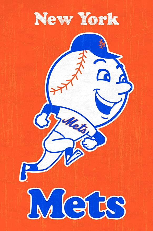 New York Mets Vintage Baseball Poster