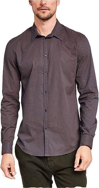 Gaudi jeans Camisa de Hombre Tela marrón con Estampado 921FU45008-920076-01: Amazon.es: Ropa y accesorios