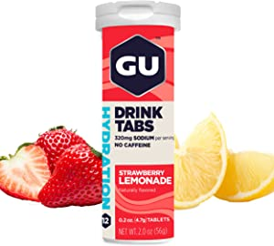 GU Energy Hydration Electrolyte Drink Tablets, 4-Count (48 Servings), Strawberry Lemonade