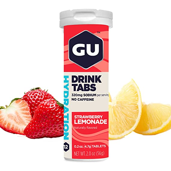 GU Energy Pastillas Disolventes de Electrolitos con Fresa Limonada - 96 Unidades