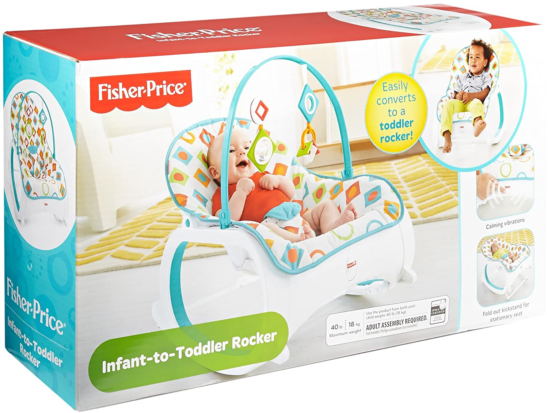 Fisher Price Infant To Toddler Rocker Geo Diamonds Baby Pink