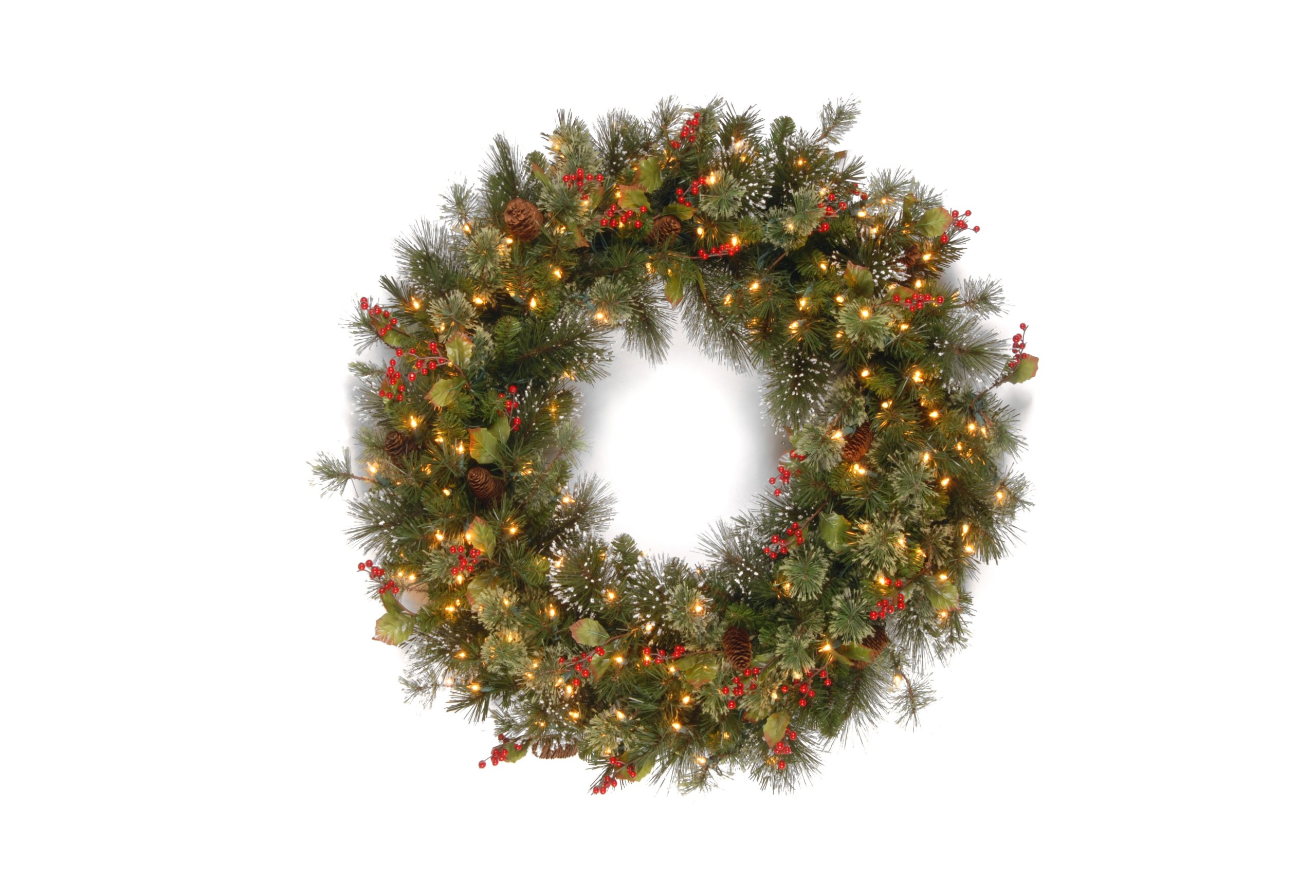 National-Tree-36-Inch-Wintry-Pine-Wreath-with-150-Clear-Lights-WP3-300-36W