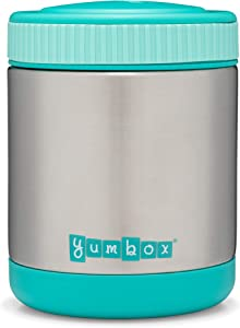 Yumbox Zuppa - Wide Mouth Thermal Food Jar 14 oz. (1.75 cups)- Triple Insulated Stainless Steel Food Container - Stays Hot 6 Hours or Cold for 12 Hours - Leak Proof-Caicos Aqua
