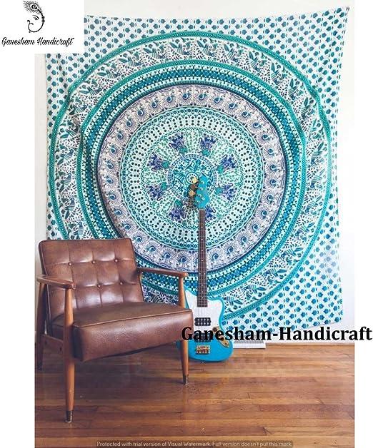 Regalo de Navidad indio bohemio tapices camino de mesa indio Reina ...