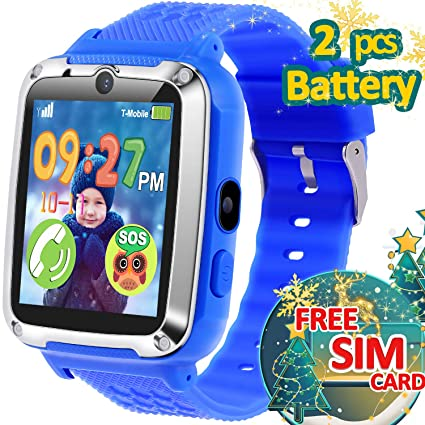 TURNMEON Smart Watch for Kids-1.54 Touch Kids Smartwatch Phone with SIM Card 12/24 H, 3-14 Year Boy Girl Xmas Birthday Electronic Gift Toddler Game ...