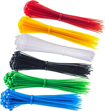 100pcs 3x100mm Nylon Plastic Colourful Cable Wire Organiser Zip Tie Cord new.
