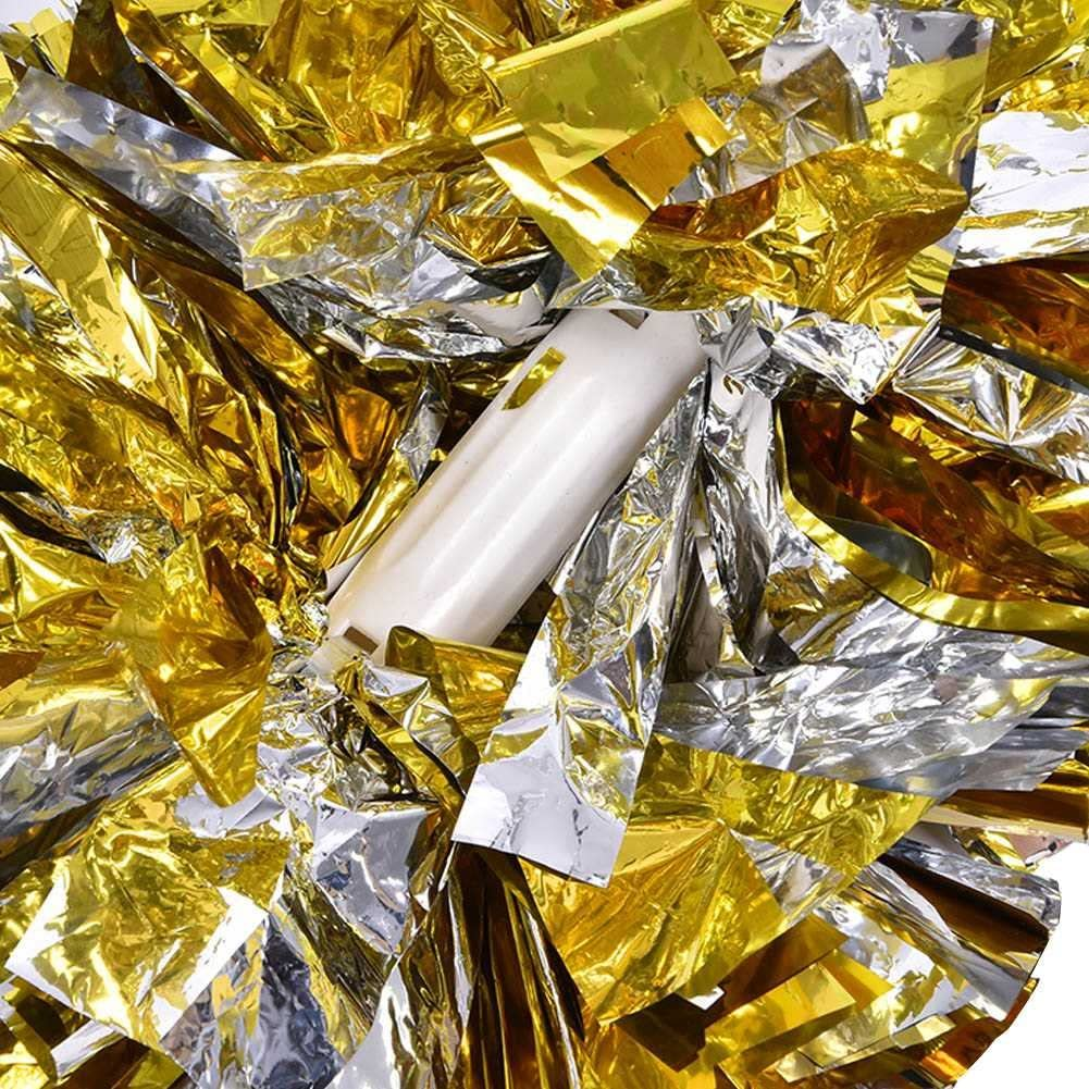 Dilwe Animadora Pompones de Pl/ástico 1 par 8 Colores Pompones de Deportivos Aerobics para Concurso de Deportes Escolares