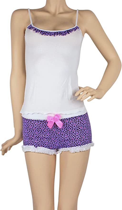 Hipnys Sleepwear Pijamas de Mujer CAT02 Boyshorts & Cami PJ Set Pajama Nightwear at Amazon Womens Clothing store: