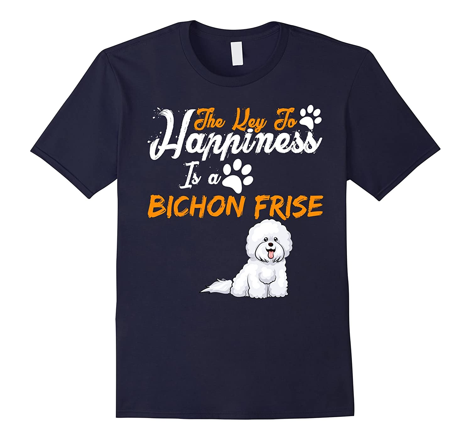 The Key To Happiness Is A Bichon Frise Funny love Shirts-Art