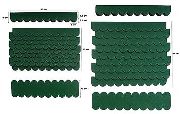 Mini Tejas, Verde, Techo cartón, Pájaro Casas, conejos Establo, estructura de