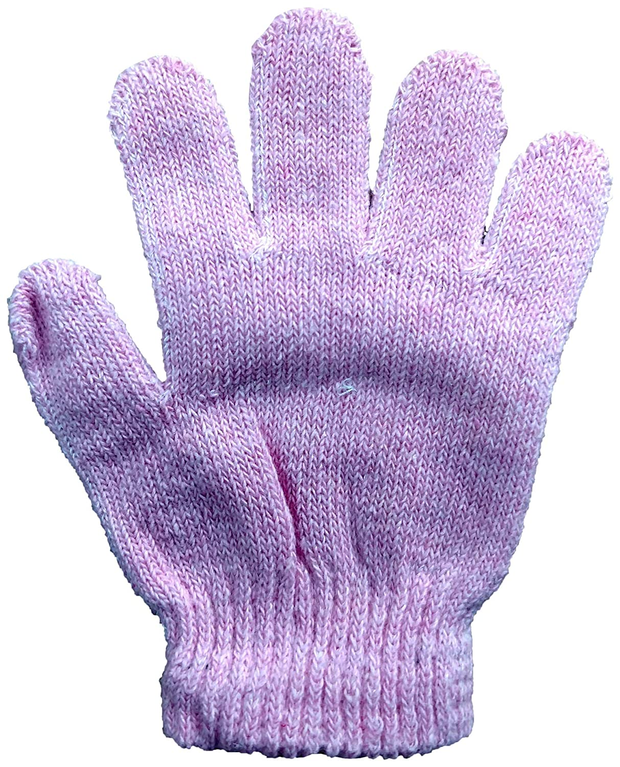 Yacht /& Smith 12 Pairs Of Kids Solid Color Winter Warm Strechable Magic Gloves