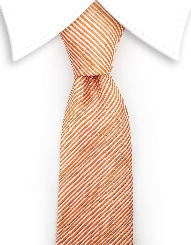Gentleman Joe Orange Pinstriped Tie Multicolored