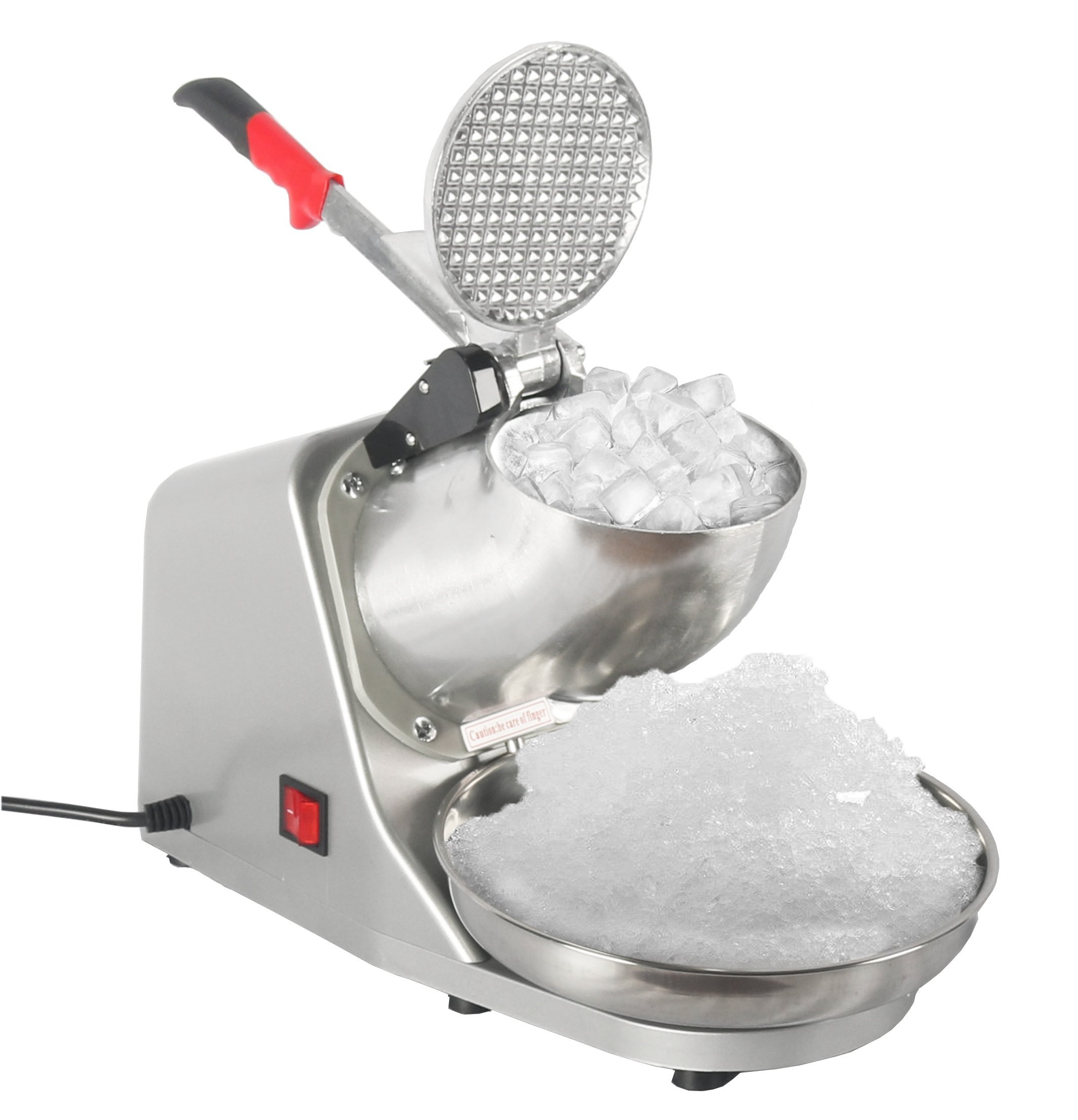 JOO LIFE Electric Ice Shaver Machine, Snow Cone Maker Shaved Ice Machine, Ice Crushers Home Commercial Use Silver 143lbs/hr (300W)