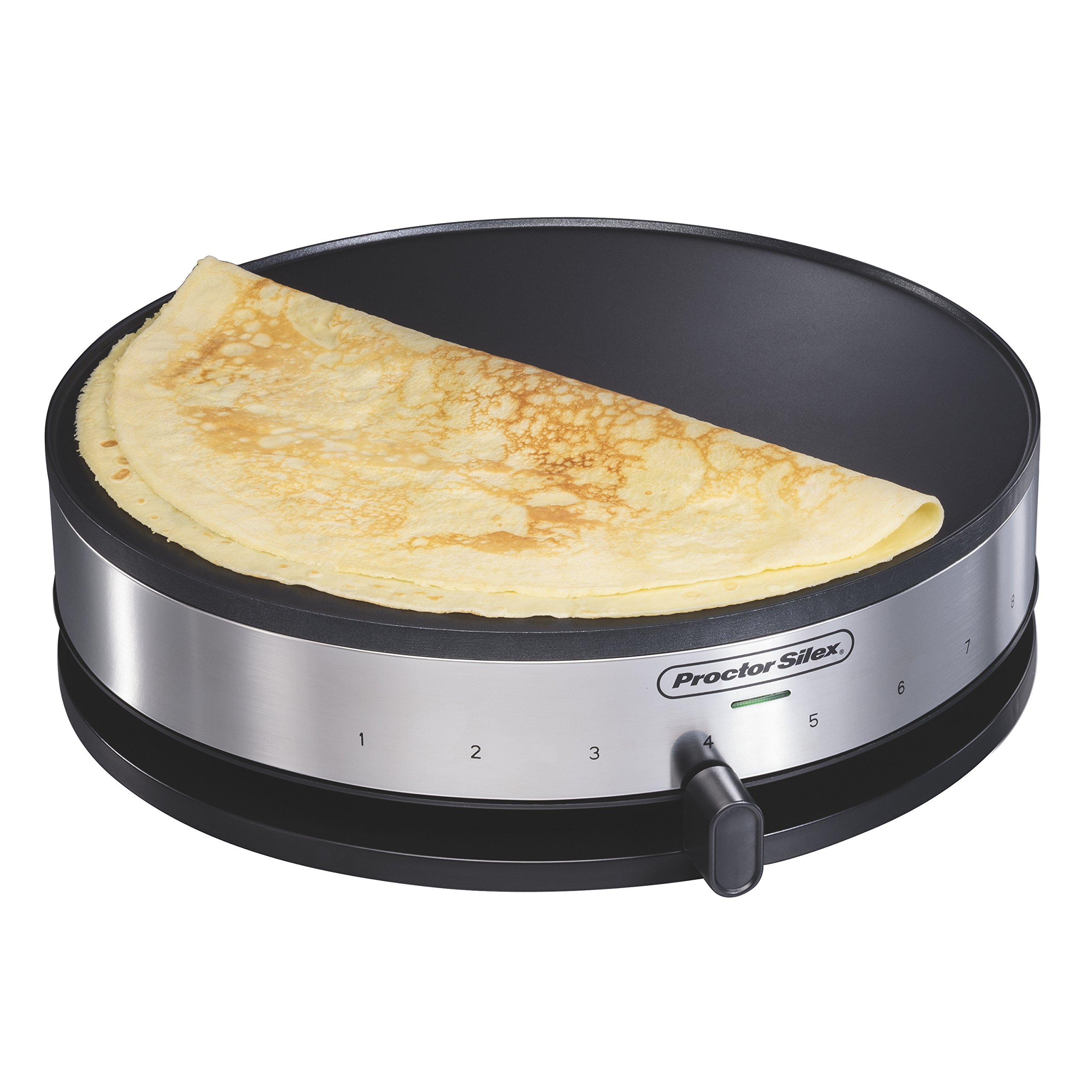 Proctor Silex 38400 Electric Crepe Maker, 13 Inch Griddle & Spatula by Proctor Silex