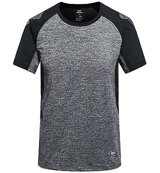 Camisetas Deportivas Hombre Fitness Camiseta Running Manga Corta Camiseta Secado Rápido Transpirable Camiseta Tenis Gris,2XL: Amazon.es: Deportes y aire ...