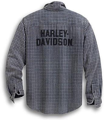 HARLEY-DAVIDSON H-D - Camiseta para hombre cuadros L: Amazon.es: Ropa y accesorios