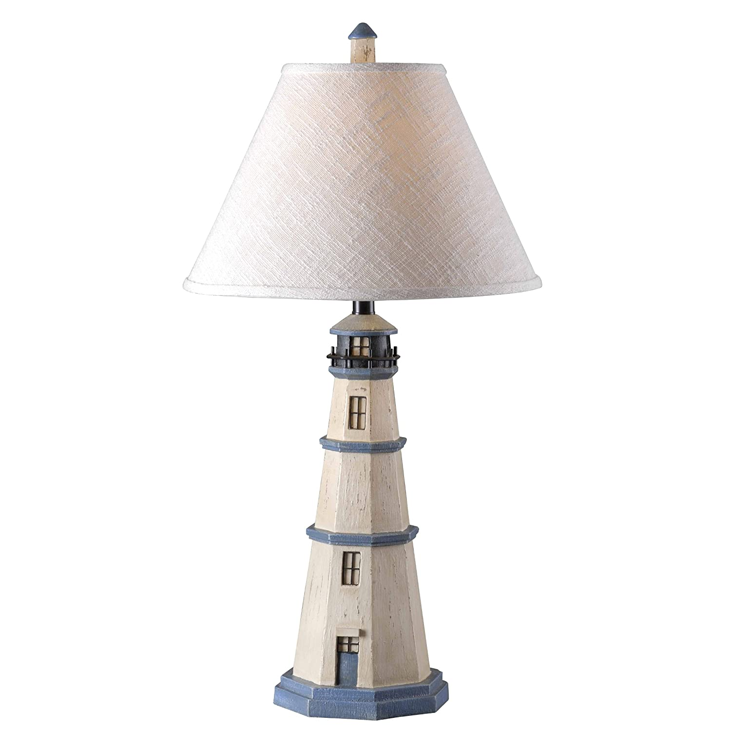 Kenroy Home 20140AW Nantucket Lighthouse Table Lamp 31 Inch Height, 16 Inch Diameter Antique White