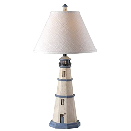 Kenroy home 20140aw nantucket table lamp antique white lighthouse kenroy home 20140aw nantucket table lamp antique white aloadofball Images