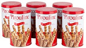 Pirouline Rolled Wafers, Chocolate Hazelnut, 14.1 Ounce, Pack of 6