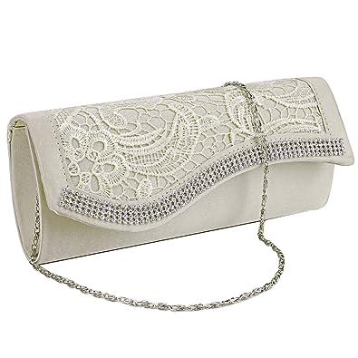 Gut Damen Clutch Satin Handtasche Brauttasche Elegante Abendtasche Schwarz Hochzeit & Besondere Anlässe Kleidung & Accessoires