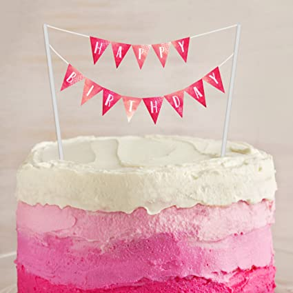 image relating to Cake Banner Printable titled : Birthday Cake Banner PRINTABLE Electronic Obtain