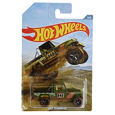 Hot Wheels Jeep Scrambler 3/6, Green: Toys & Games