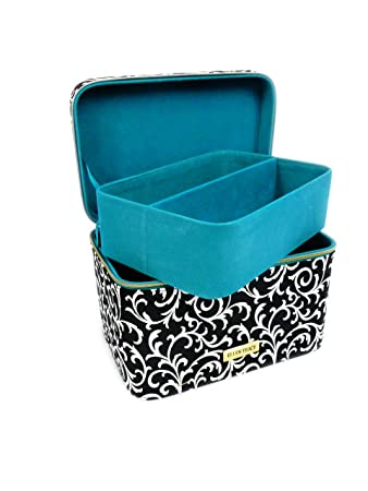 Amazoncom Ellen Tracy Train Case Travel Beauty Organizer Beauty