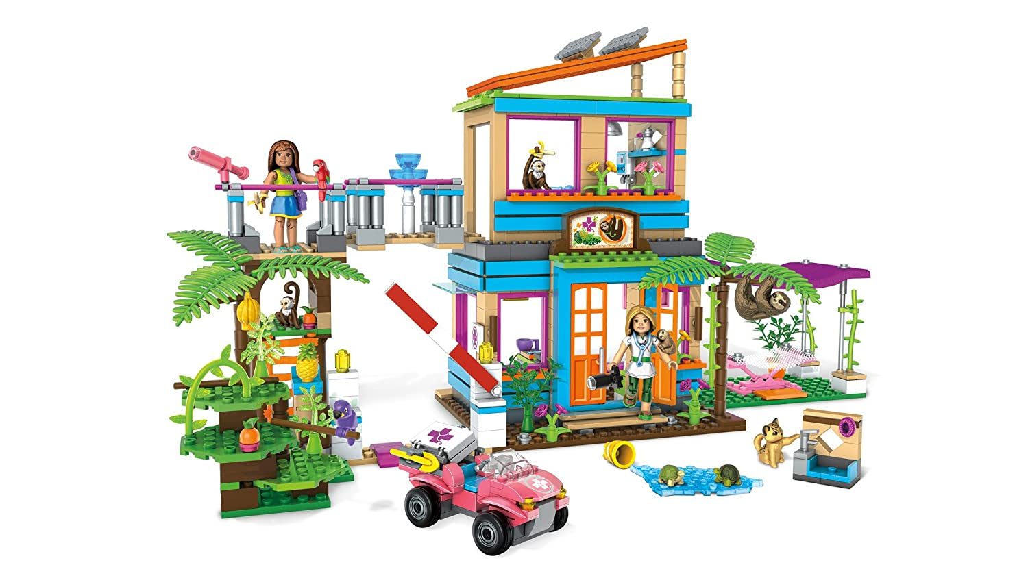 Mega Construx American Girl Lea's 2-in-1 Rainforest Sanctuary Construction Set Mattel FDY98