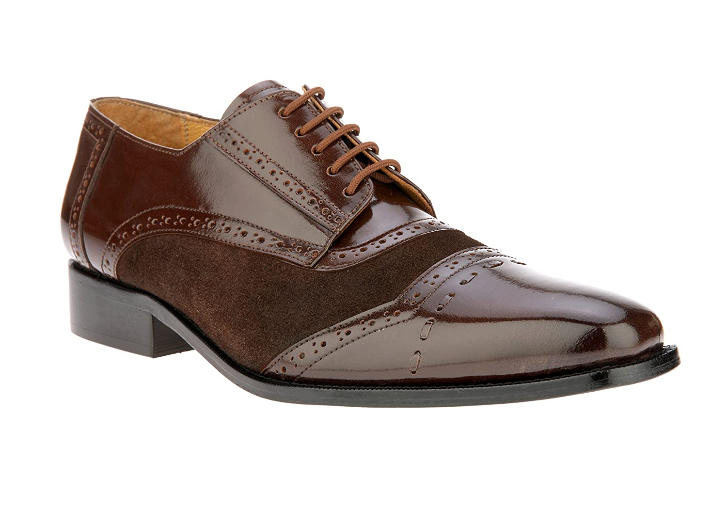 383b28a40ccb6 Liberty Men's Handmade Leather Oxford Plain Toe Suede Comfort Stitched Lace  Up Dress Shoes
