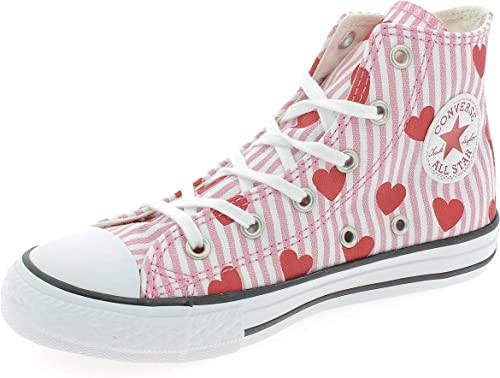 Converse Youth CTAS Hearts and Stripes Hi Canvas Formateurs