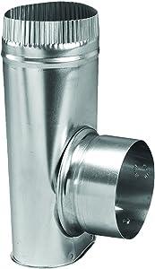 "Deflecto Dryer Offset Connector, 4"" Diameter, Silver (AMDOC/6)"