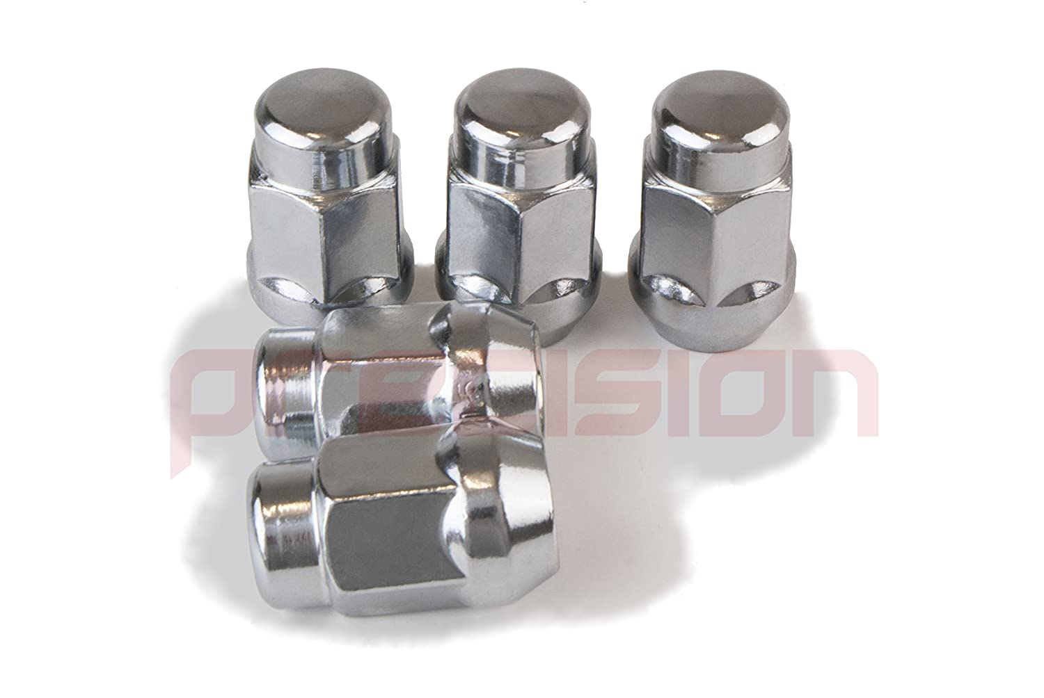 16NM10+N10541 Precision 16 x Chrome Alloy Wheel Nuts and 4 x Locking Nuts for Ḟord Grand C-Max with Aftermarket Alloy Wheels Part No
