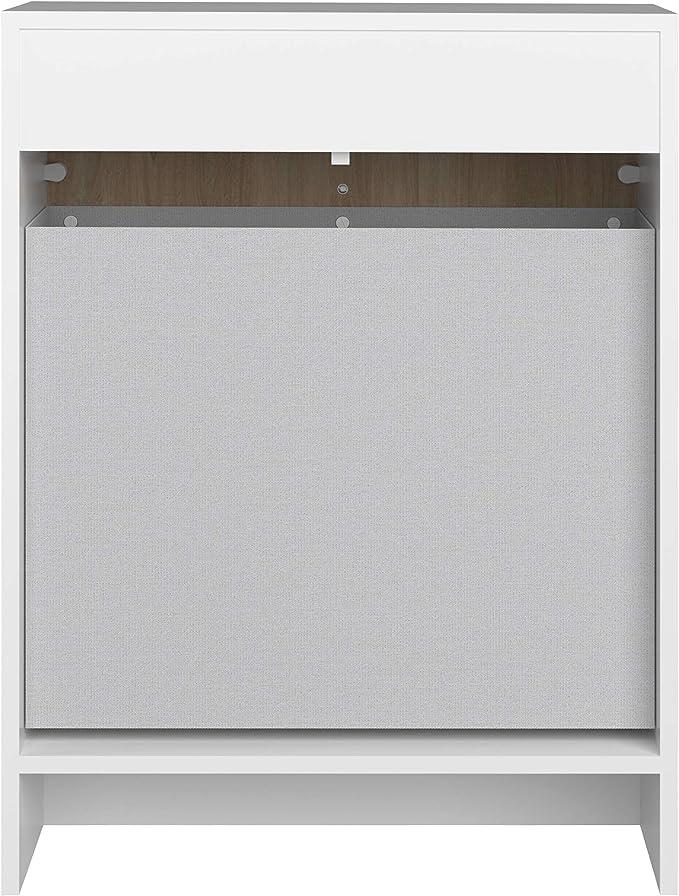 colore bianco e quercia Basics L x P x A 60 x 29.6 x 81.5 cm Mobiletto da bagno