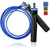 Ballistyx Skipping Rope With Adjustable Speed Cable & Contoured Ball Bearing Handles - Best Jump Rope For Exercising, Boxing & MMA, Home Fitness & Sports Training