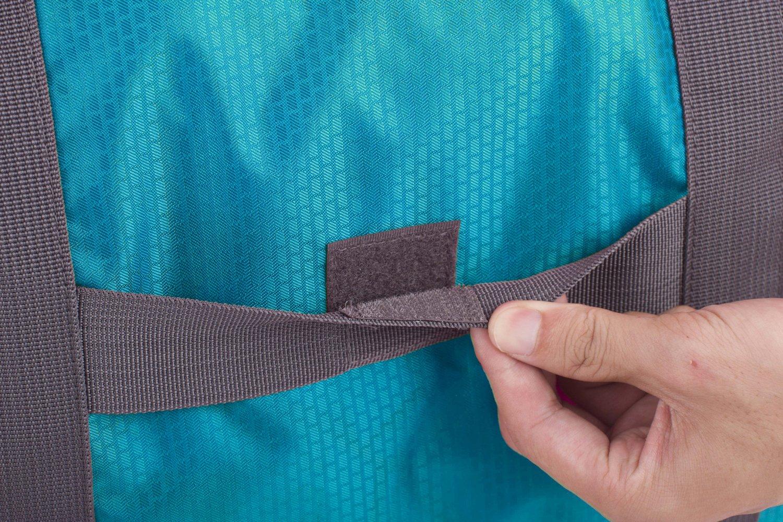 Wandf Foldable Travel Duffel Bag Luggage Sports Gym Water Resistant Nylon, Blue by WANDF (Image #8)