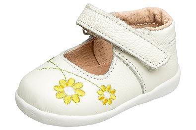 gibra Leder Sandalen Ballerinas für Babys und Kleinkinder, Art. 5537, Weiß,  Gr. 19-24: Amazon.de: Schuhe & Handtaschen