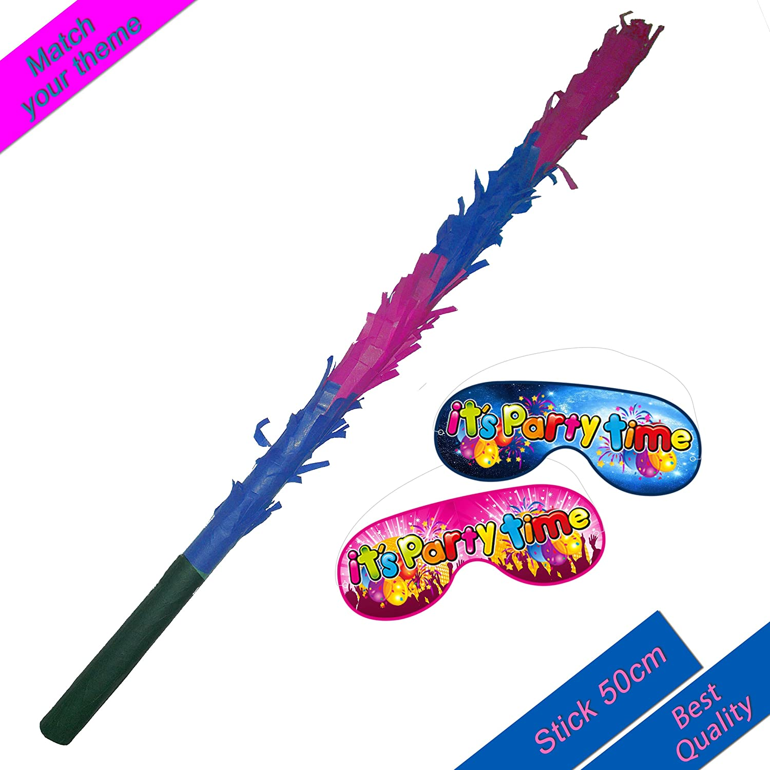 Pink Blue Pinata buster stick Boogie Woogie