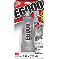 E6000 231020 Adhesive with Precision Tips, 1.0 fl oz