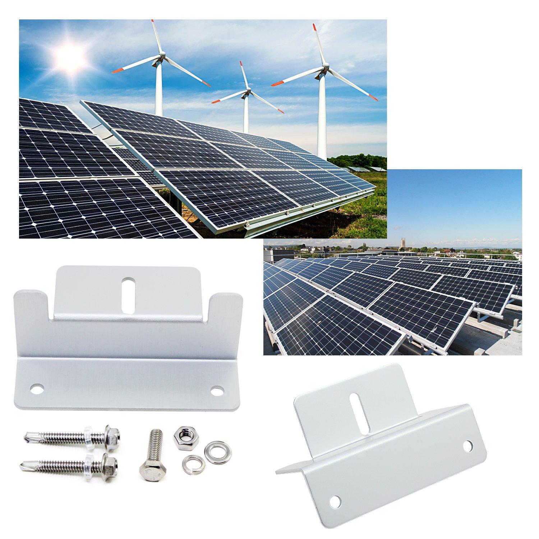 1 WiMas 4/set pannello solare staffa Z staffa di montaggio staffa di supporto con dadi e bulloni per RV tetto Style 2