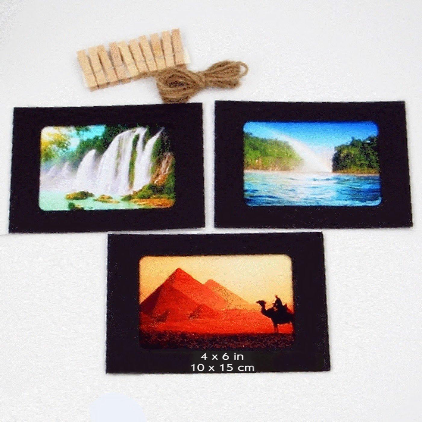Amazon.de: Handgefertigte Papier-Bilderrahmen, 15, 2 x 11, 4 cm ...