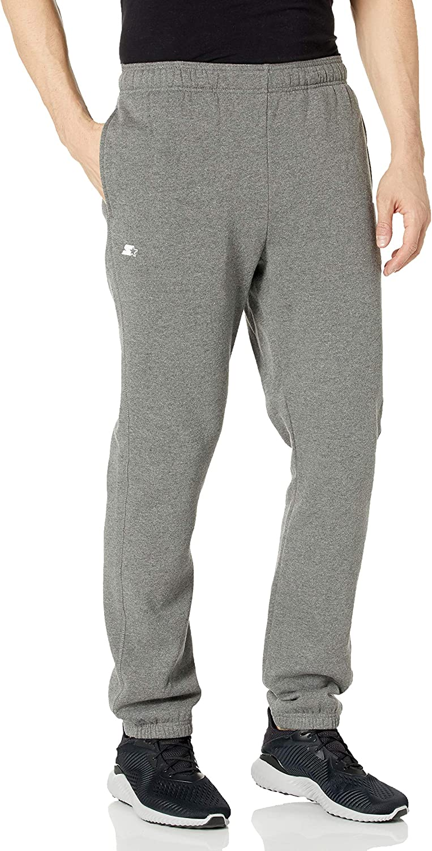 Starter Mens Mens Elastic-Hem Fleece Sweatpants