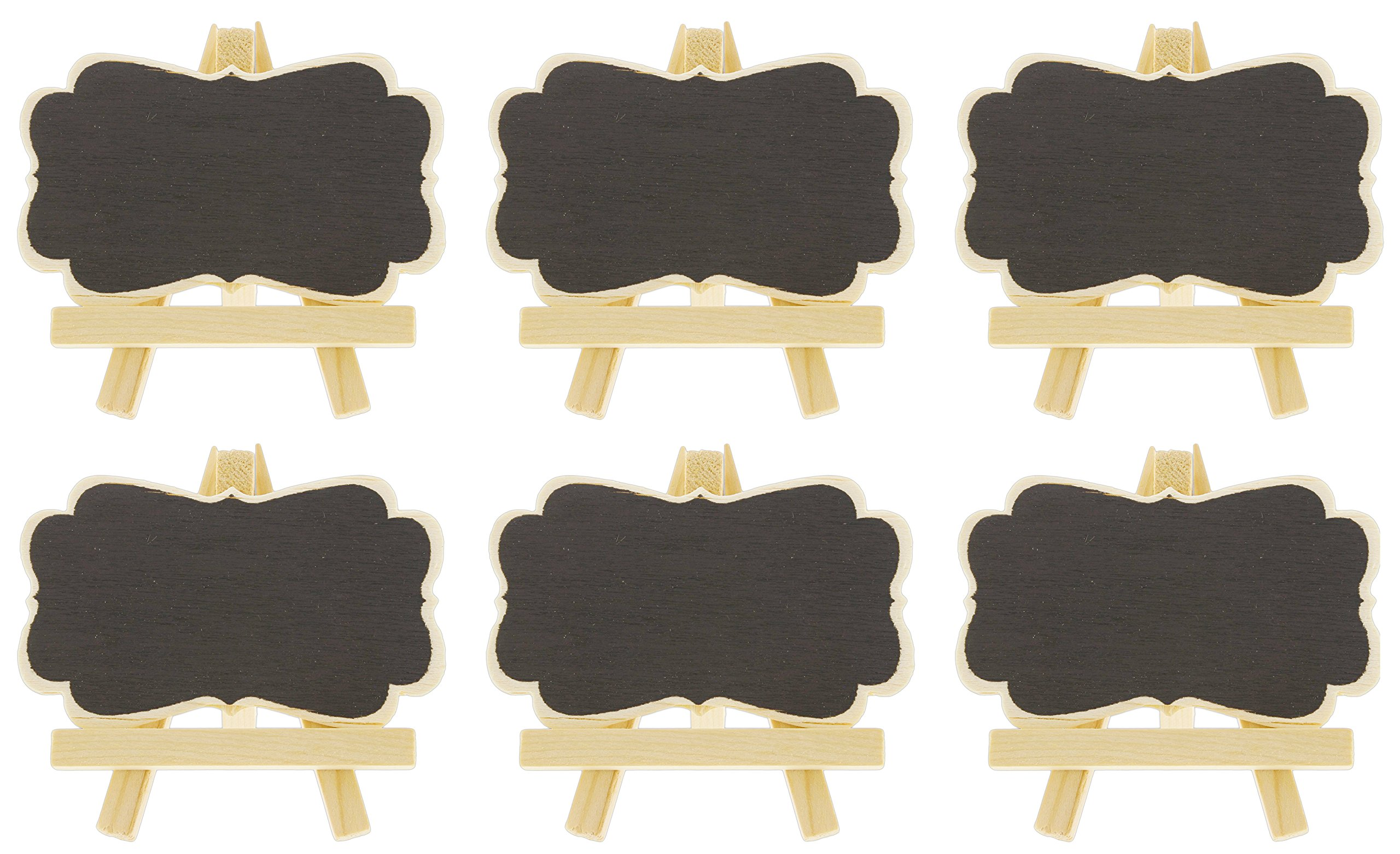Set of 6 Fashioncraft 3.5'' Mini Chalkboard Easel Place Card Holders