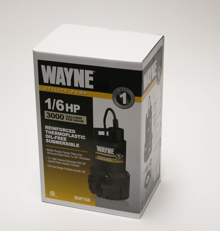 Wayne Rup160 1 6 Hp Oil Free Submersible Multi Purpose Water Pump