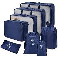 Joyoldelf Koffer Organizer Set verbesserte Koffer Gepäck Aufbewahrung Taschen Organiser