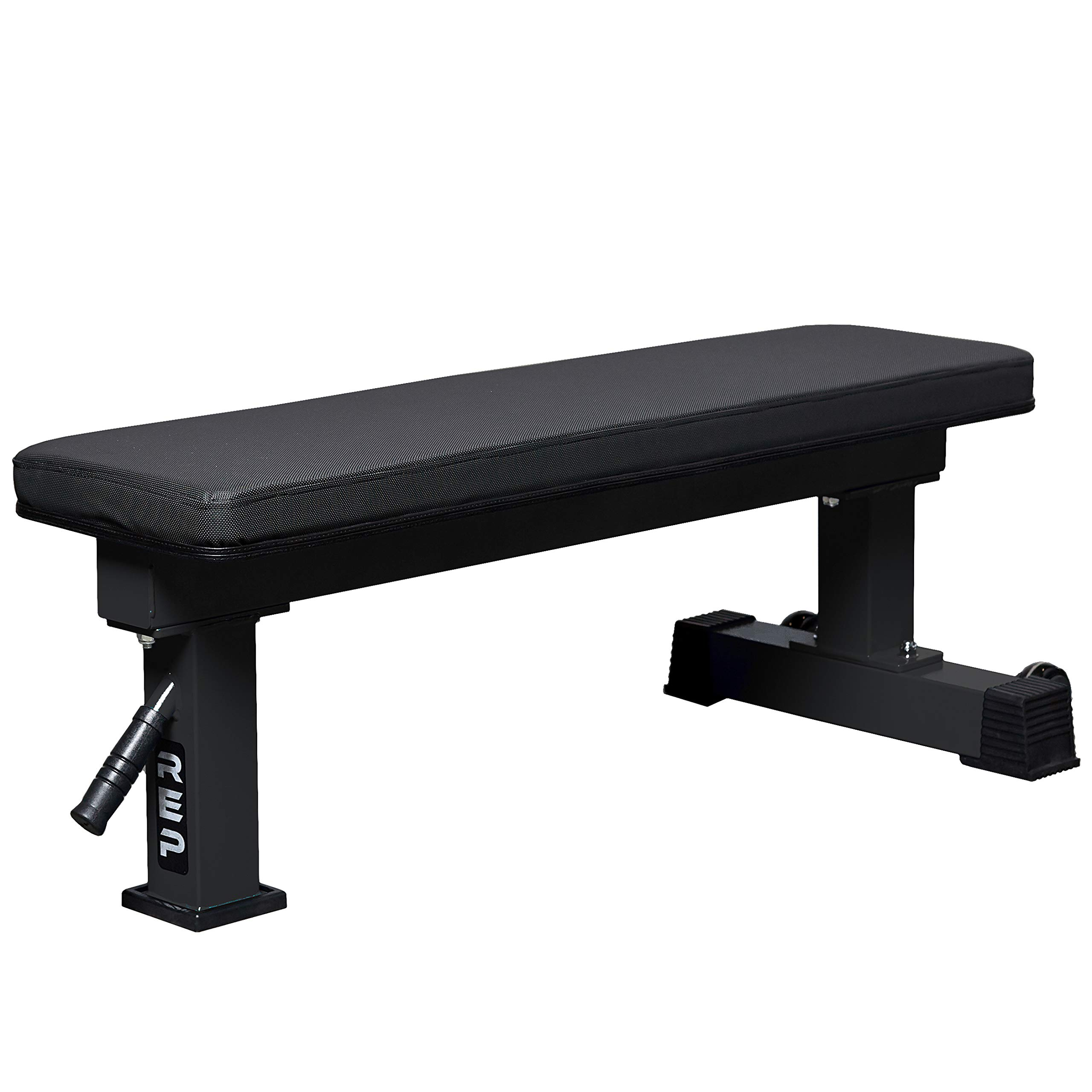 REP FITNESS FB-4000 Competition Light Flat Bench - Metallic Black by REP FITNESS